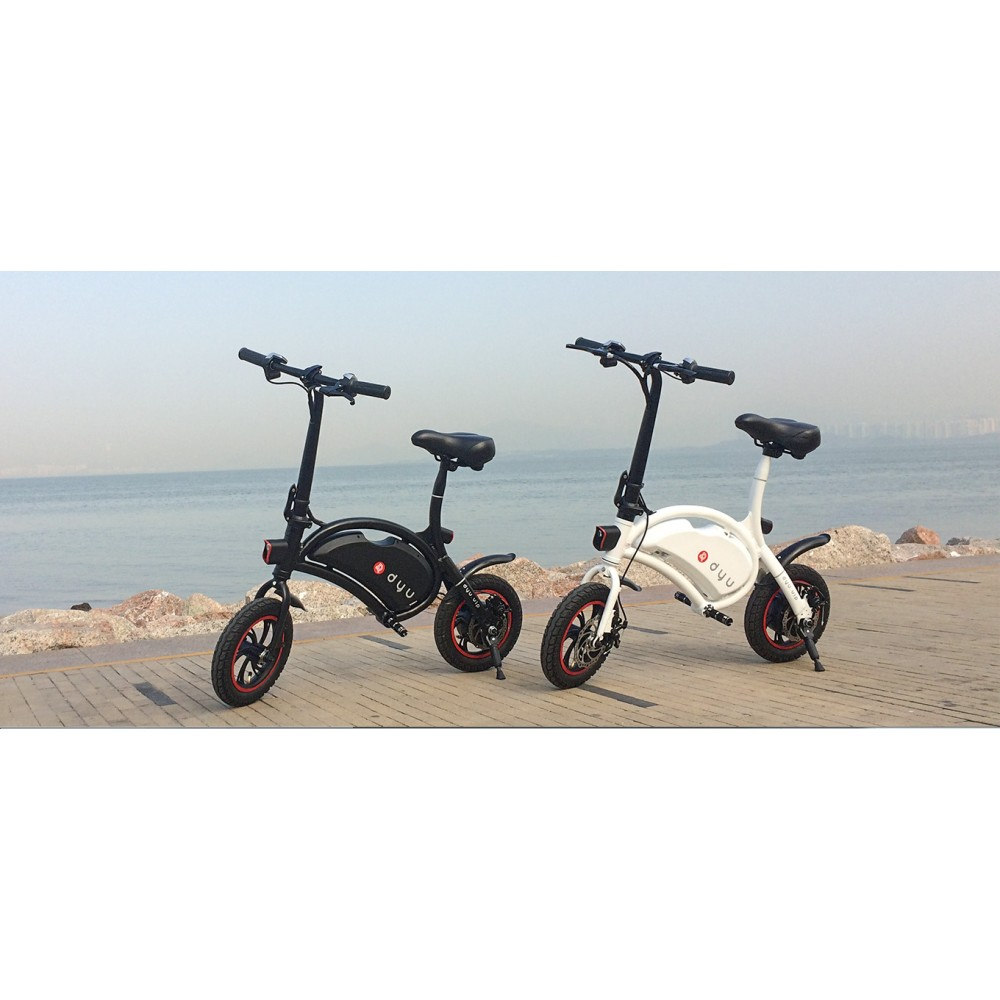 dyu mini elektroroller d1 ebike fahrrad g nstig bestellen. Black Bedroom Furniture Sets. Home Design Ideas